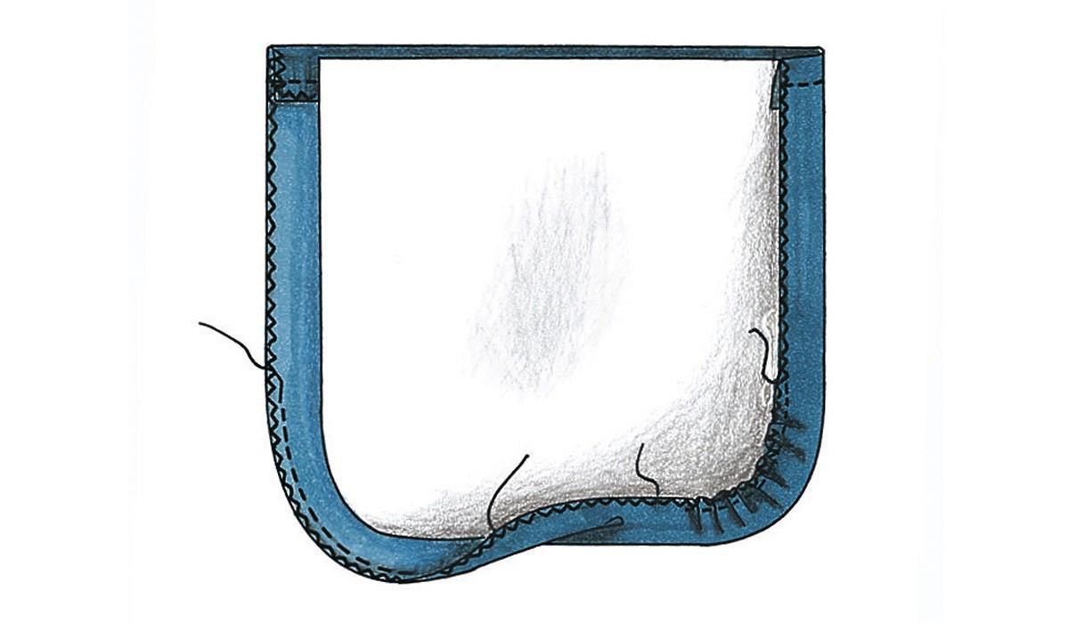 Азы шитья: простой накладной карман