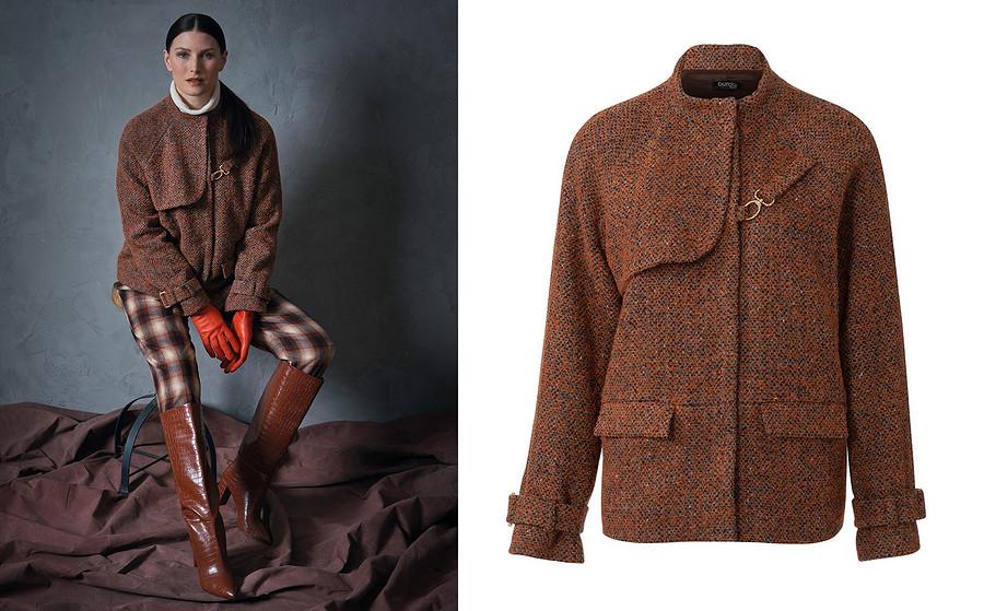Выкройка месяца: стильный жакет-куртка сотлетной кокеткой