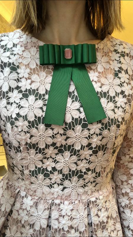 Розово-зелёное платье от Mora