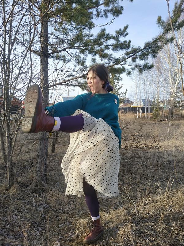 Изумрудный свитер от Анастасия Золотая