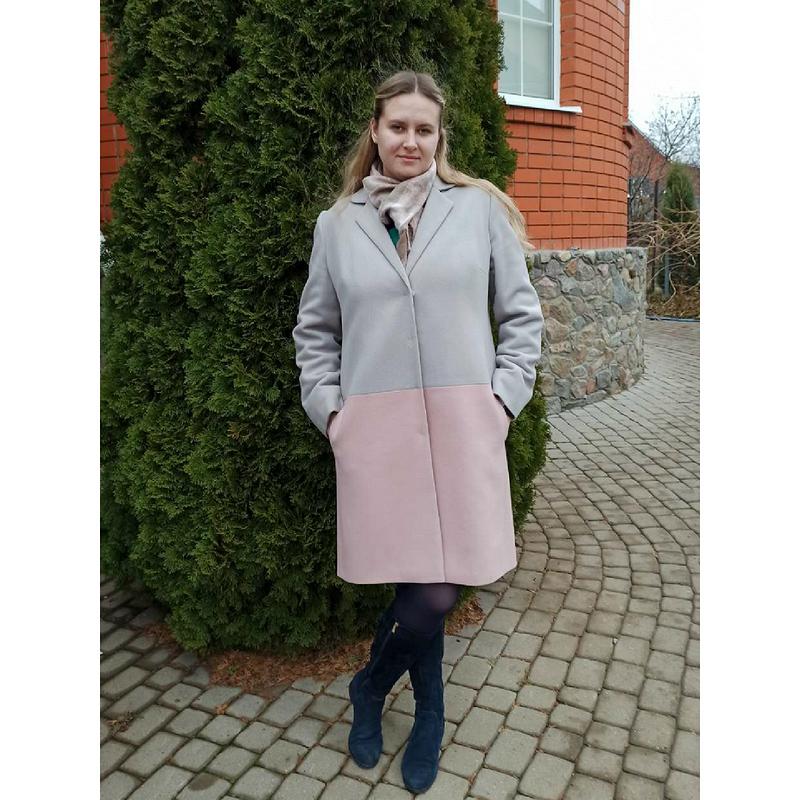 Двухцветное пальто от сок-1