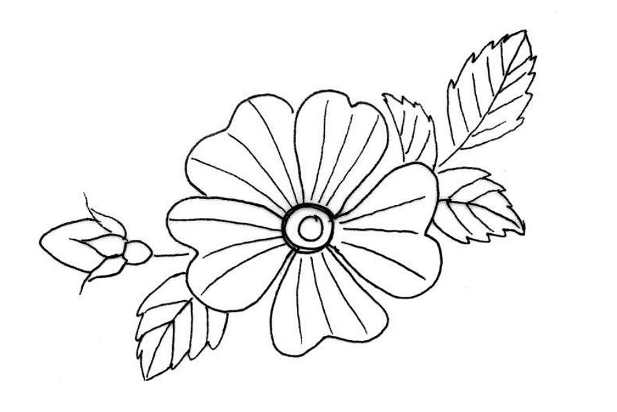 Как вышить цветок гладью: мастер-класс дляначинающих