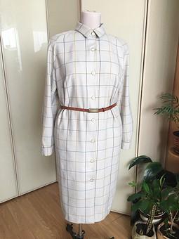 Работа с названием Фланелевое платье-рубашка