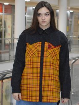 Работа с названием Рубашка-пальто