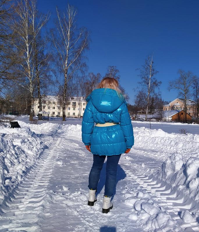 Пуховик «Бирюзовая зима» от IrinaР1973