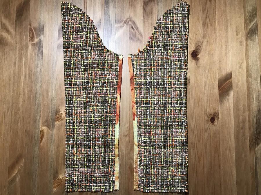 Метаморфозы встиле Шанель: блузка изпёстрого лейс-твида
