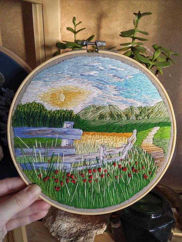 Вышивка «Старая изгородь» от DariaDanja