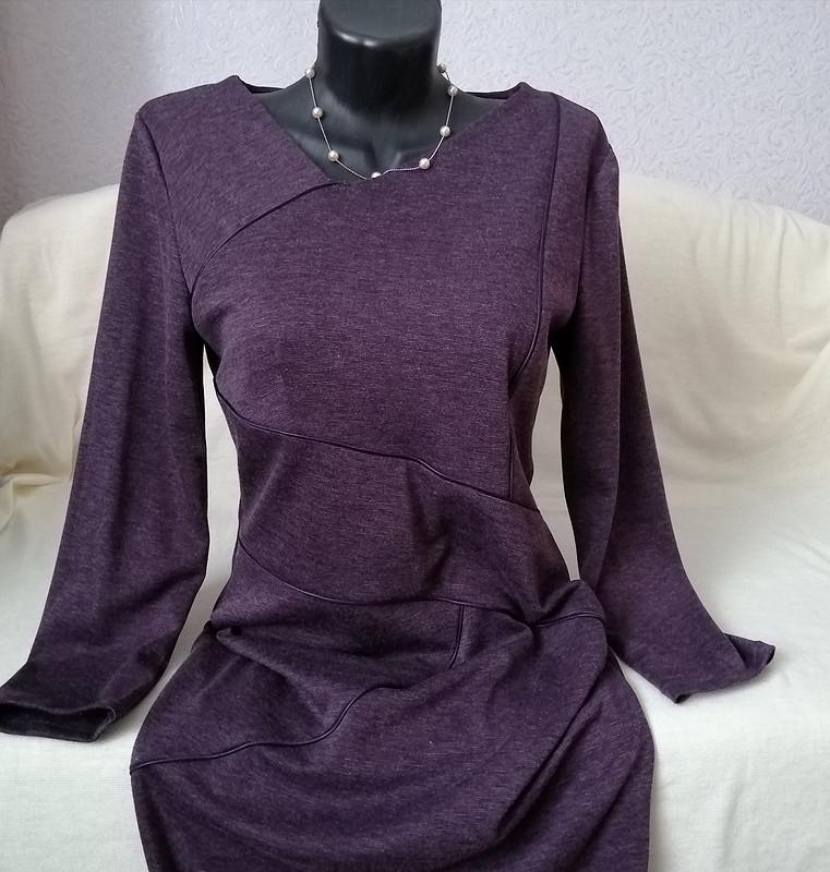 Трикотажное платье «Линии скантом» от MilanaM