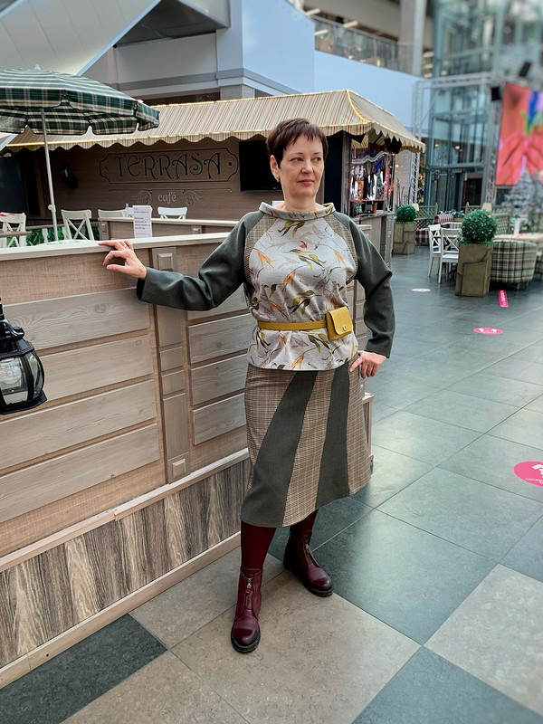 Костюм: юбка иблузон от SvetlanaGorenkova