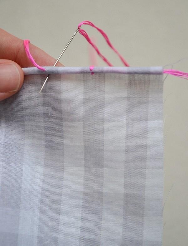 Идея: простой декоративный ручной шов дляобработки края