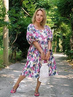 Работа с названием Платье + авоська