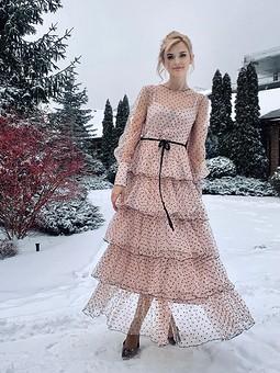 Работа с названием Винтажное вечернее платье