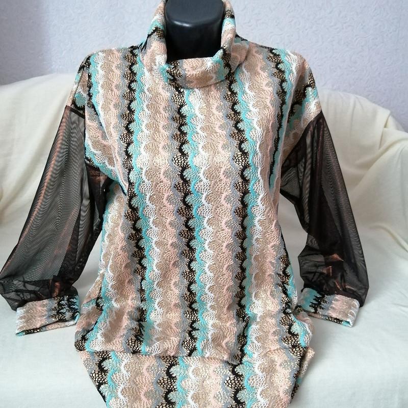 Пуловер горизонтальная волна, нестандарт от MilanaM