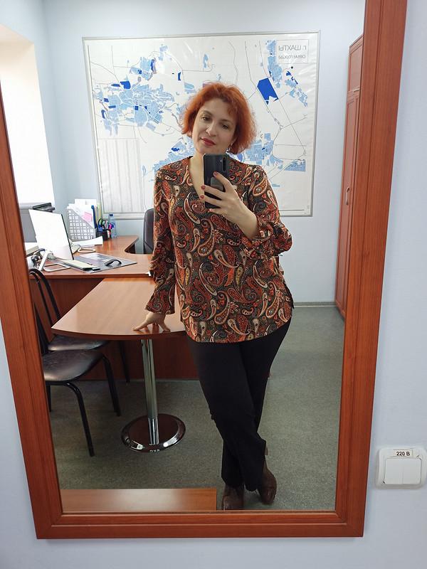 Блузка «Оранжевые огурцы» от Galinazima