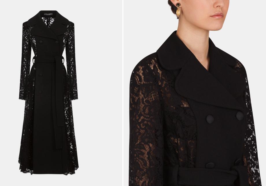 Вещь дня: восхитительное кружевное пальто отDolce&Gabbana