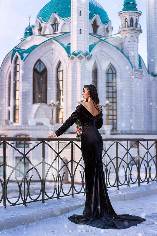 Черное бархатное платье -2 от Ксения Огнева