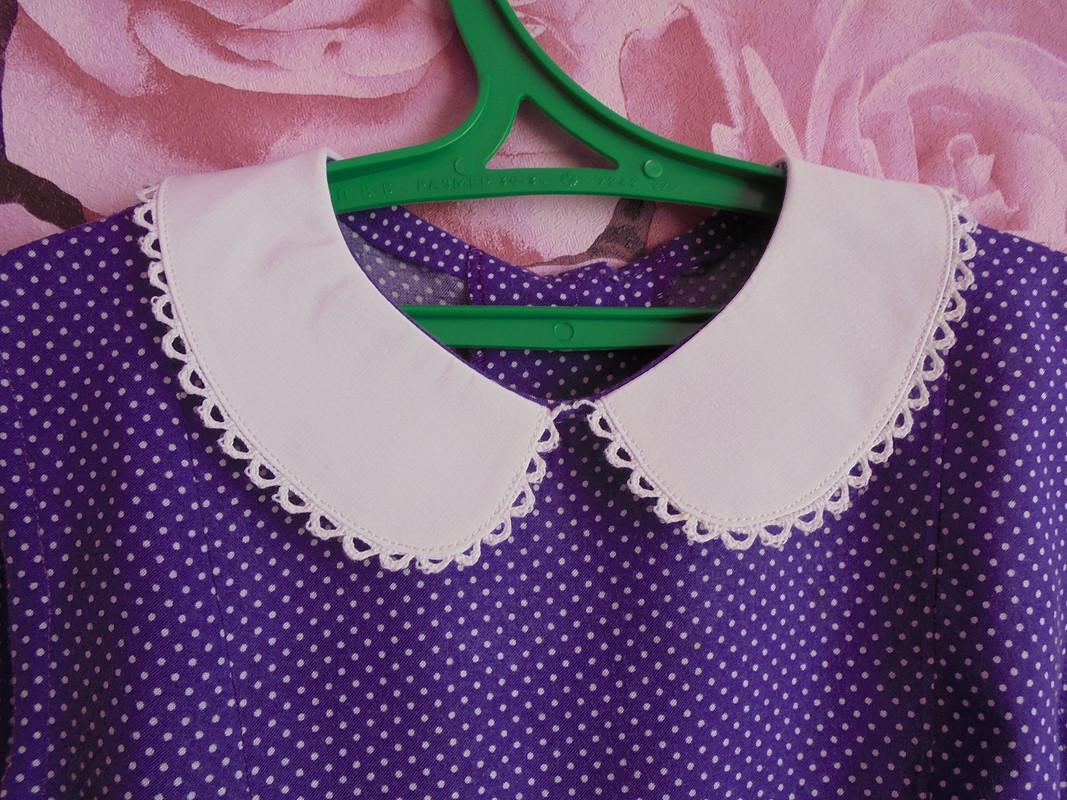 Платье сбелым воротничком от Patrolaj