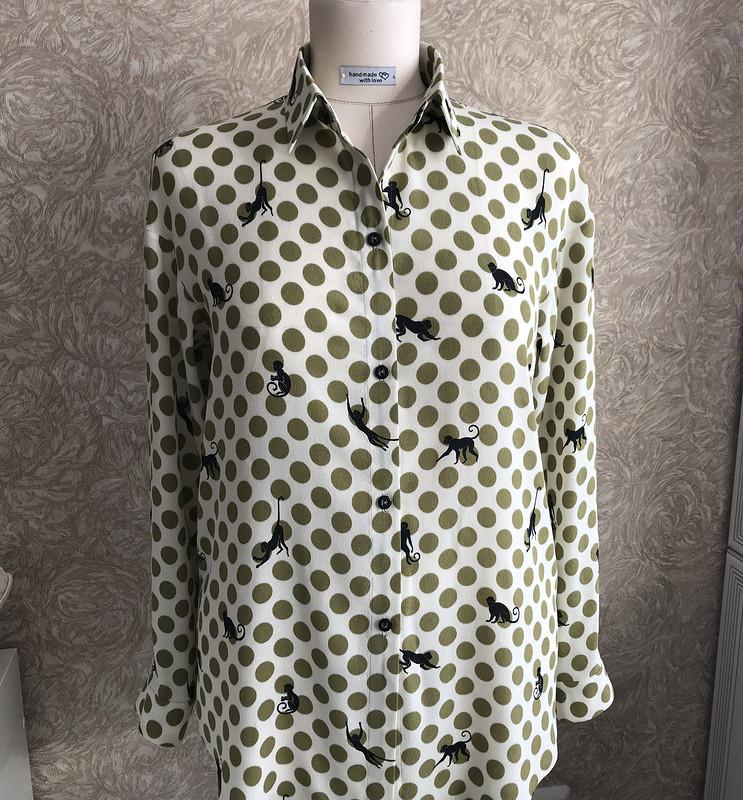 Рубашка изкреповой вискозы от Anilena