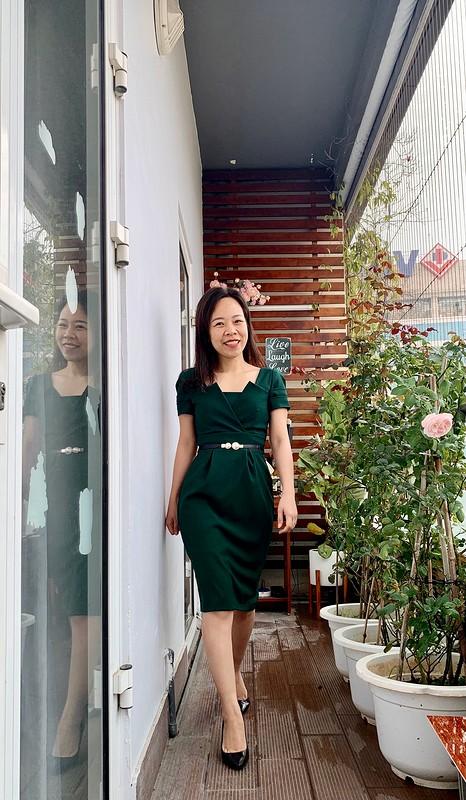 Платье «Dark green dress for new year»
