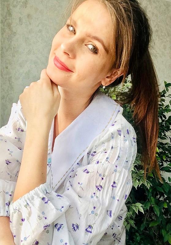 Блуза «Полевая сбольшим белым воротничком» от LiubovEvseeva