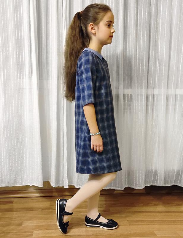 Платье вклетку от Janna