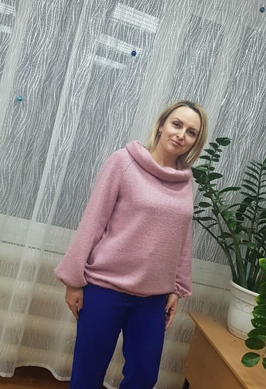 Пуловер срукавами реглан от Маруся