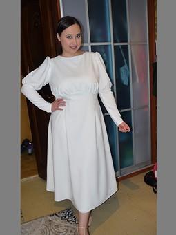 Работа с названием Платье лебедя или