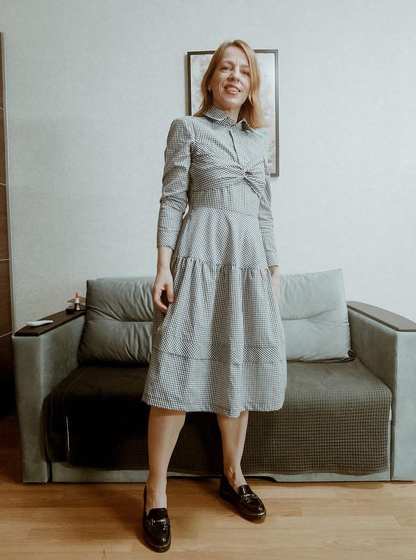 Платье слифом бандо от Enett