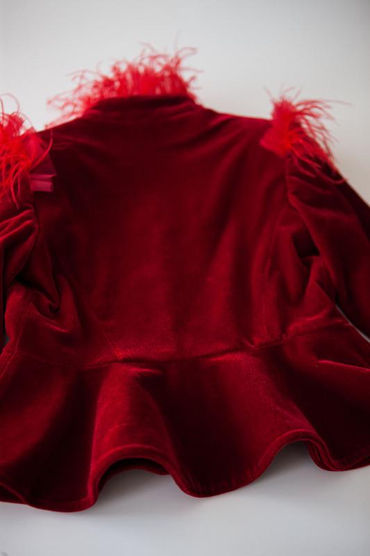 Бархатный жакет иатласная юбка от Ильмира Королева