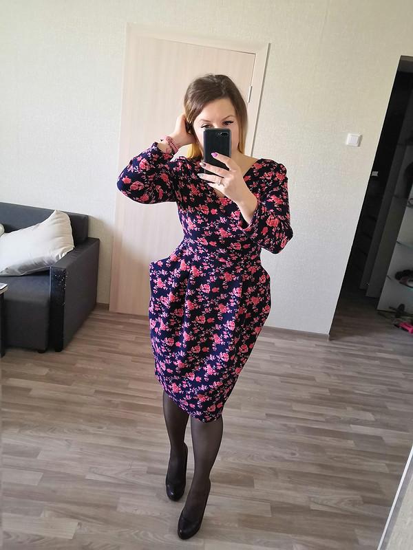 Платье сцельнокроенными карманами от Nafanya