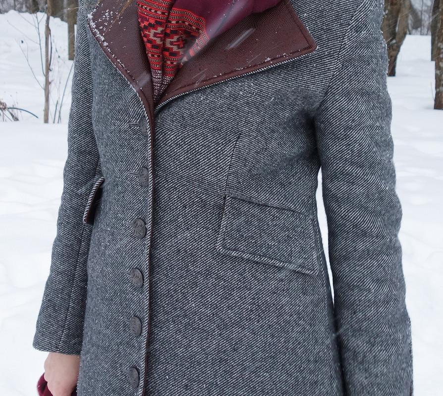Пальто сдеталями изкожи от _Lelik