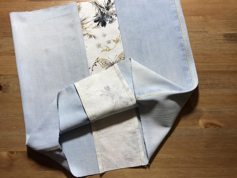 Сумка втехнике апсайклинг изстарых джинсов иостатков тканей