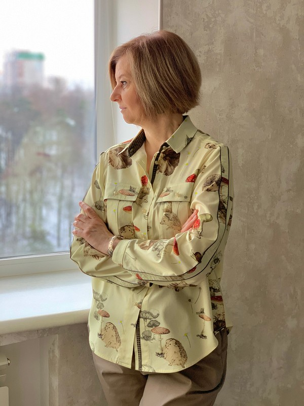 Блузка «Ёжики-грибочки» от Светлана Гасымова