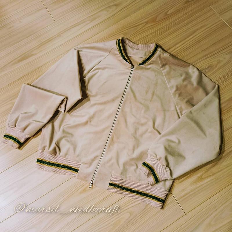 Бомбер/блузон «Пудровый бархат иИзумрудная стрекоза» от MarSel