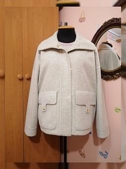 Работа с названием Куртка в клетку по мотивам Loro Piana