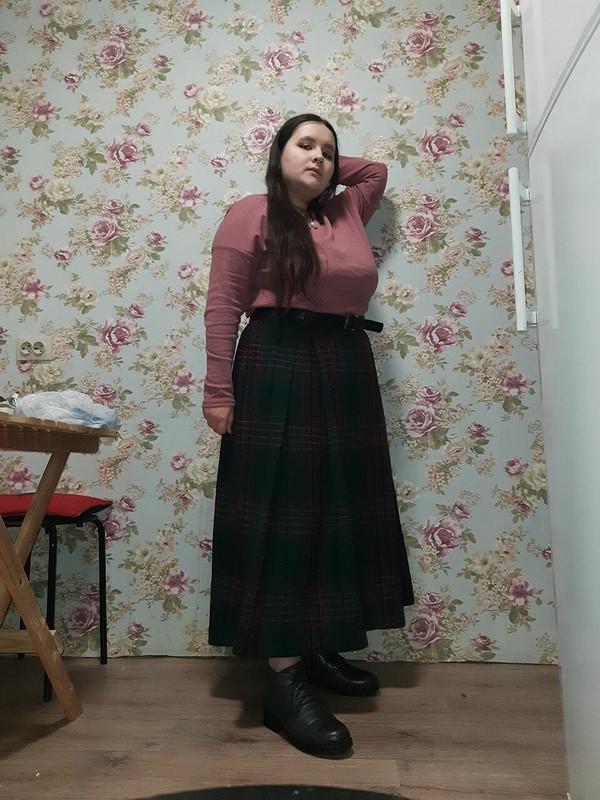Длинная юбка вклетку длядочери)) от EkaterinaKr