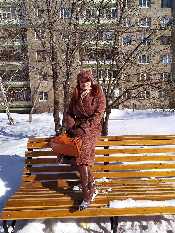 Пальто изшерстяного твида от Елена Мамонтова