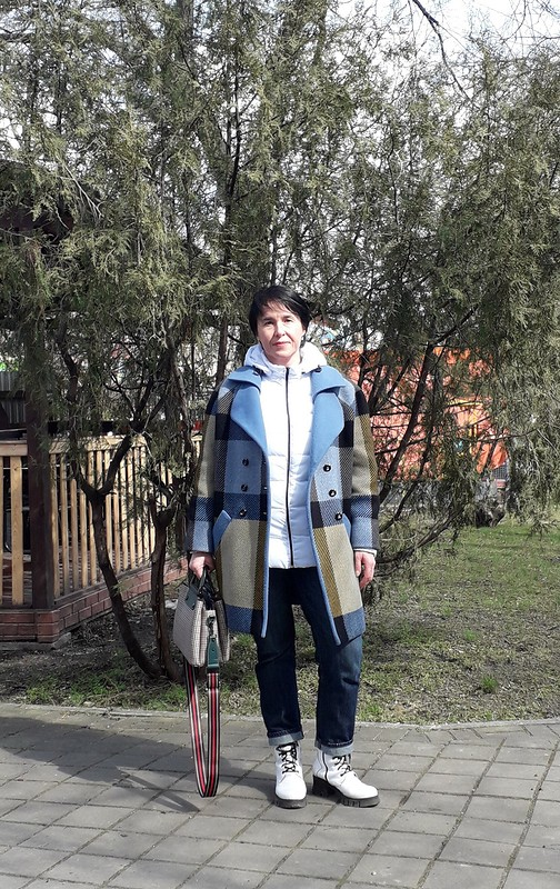 Оверсайз-клетка иоверсайз-пальто от AnnaVoloshina