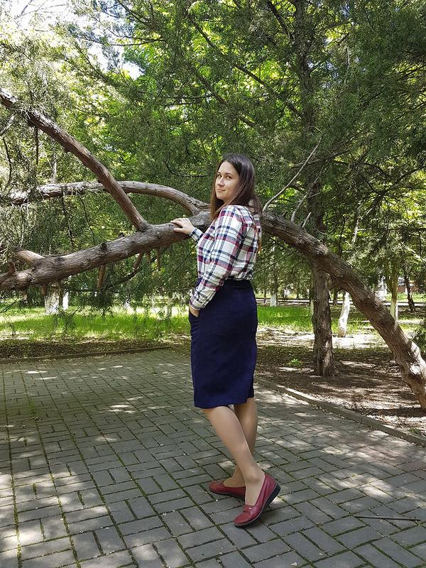 Вельветовая юбка от Еленка61