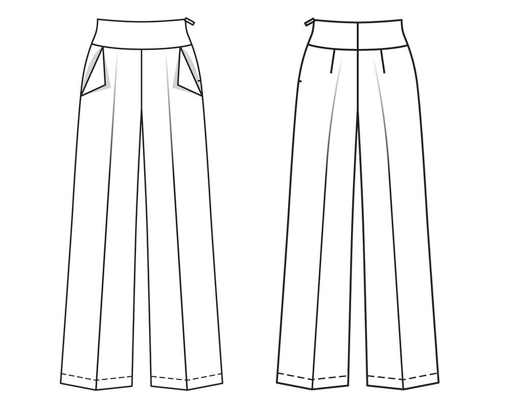 Эффектные брюки: новый курс вАкадемии Burda