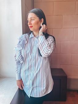 Работа с названием Рубашка с воланом