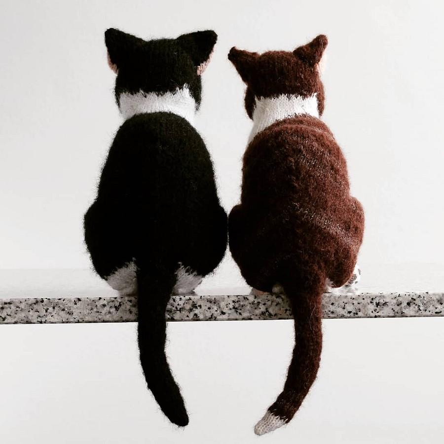 Вязаные котики удивительной реалистичности: рукодельный instagram недели