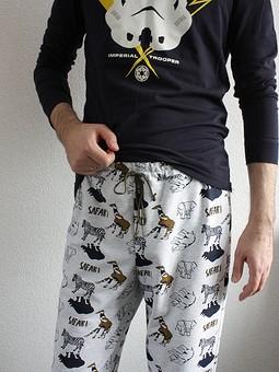 Работа с названием Домашние штаны из футера