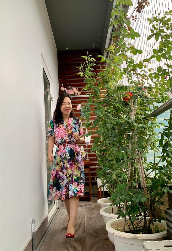 Платье «Floral dress that I love» от Binh Ngo