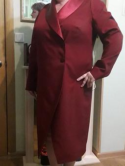 Работа с названием Платье-пальто
