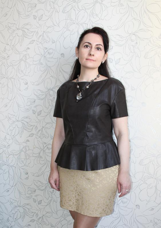 Блуза изискусственной кожи от Inessa Moon