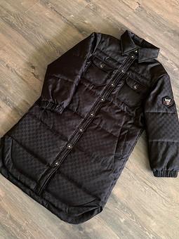 Работа с названием Пальто-рубашка из плащевой Гуччи