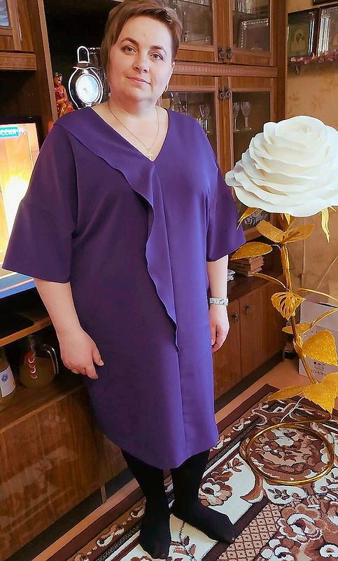 Черничное платье своланом от Elenka-Elenka