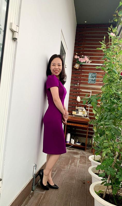 Платье «Purple is my favourite» от Binh Ngo