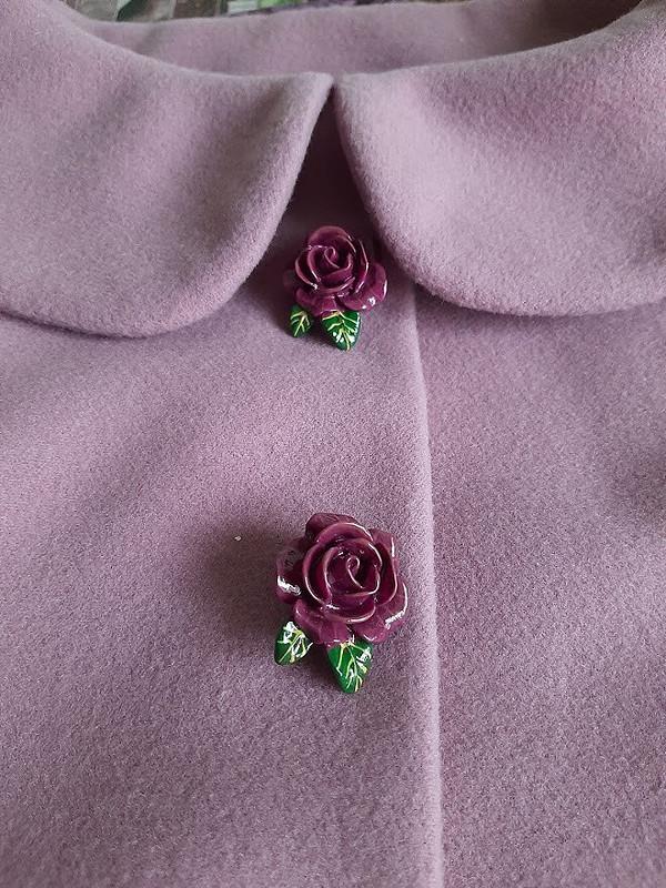 Пальто «зефирка-розочка» от Эльза Стрельцова